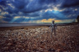 Cyberman on the beach - Darren steel